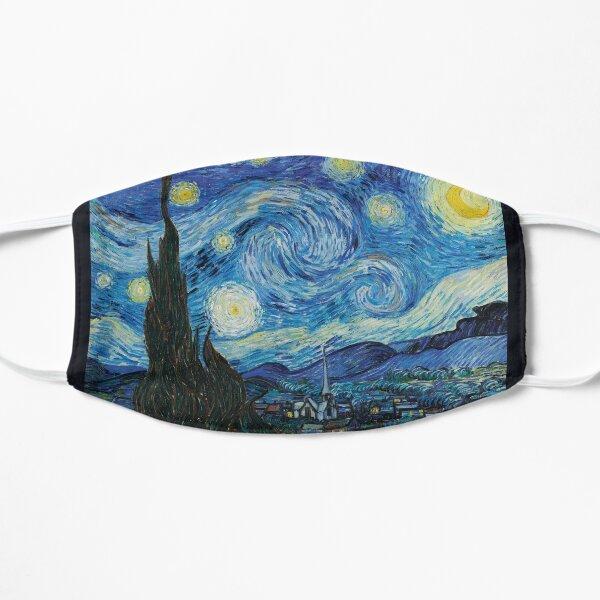 La noche estrellada de Vincent Van Gogh Mascarilla plana