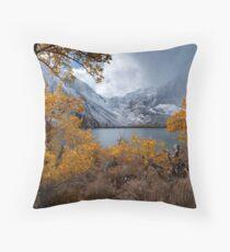 Falling into Winter Throw Pillow