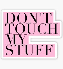 Don't touch! Sticker