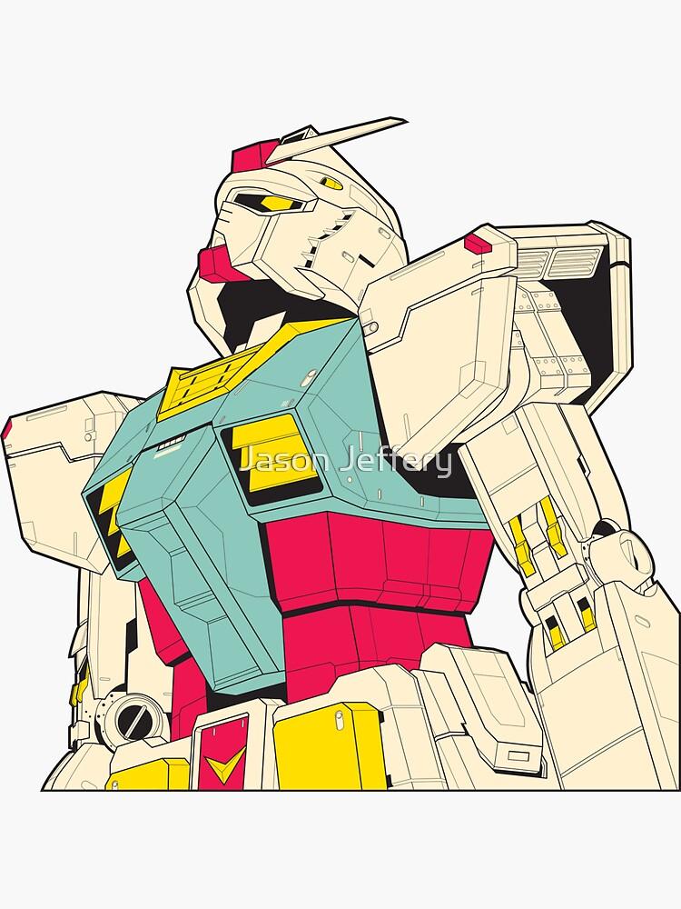 Mobile Suit Gundam Sticker by Jason