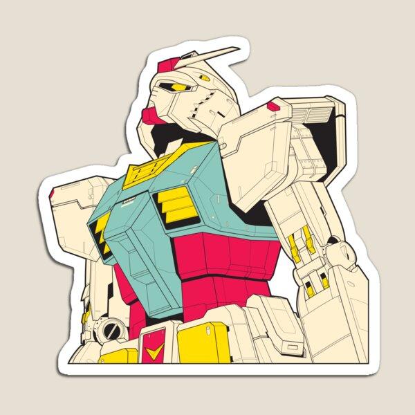 Mobile Suit Gundam Sticker Magnet