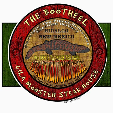 The Bootheel Gila Monster Steak House by ZsTees