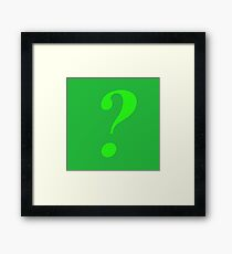 Riddler Framed Print