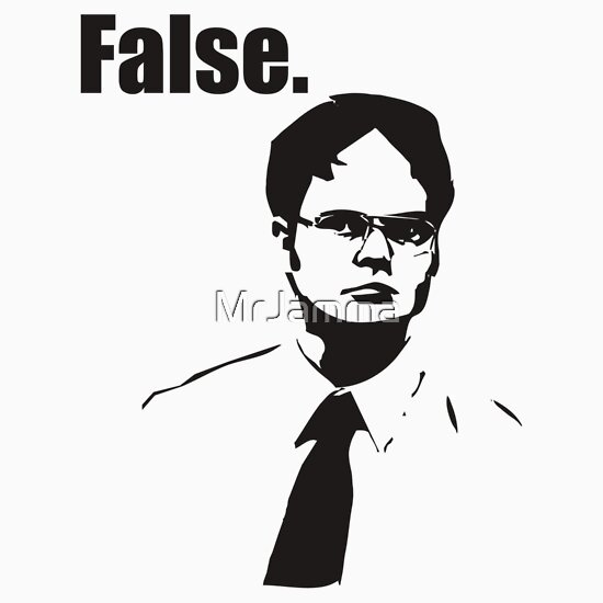 TShirtGifter presents: Dwight Schrute False | Unisex T-Shirt