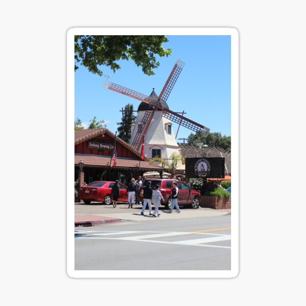 Solvang California Brewery and Windmill Sticker