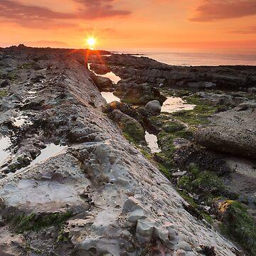 Watchet Summer Sunset by kernuak