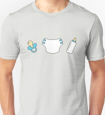 Pacifier, diaper and bottle Unisex T-Shirt