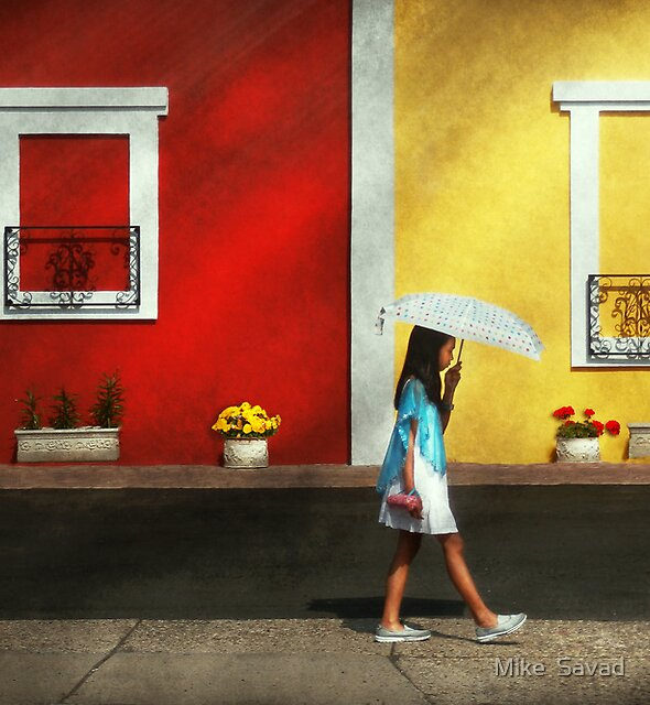 Child - A bright sunny day  by Michael Savad