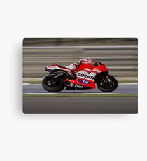 Nicky Hayden in Qatar 2011 Canvas Print