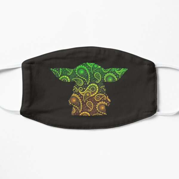 Teardrop Mandala Silhouette - Alien Forest - Dark Background Mask