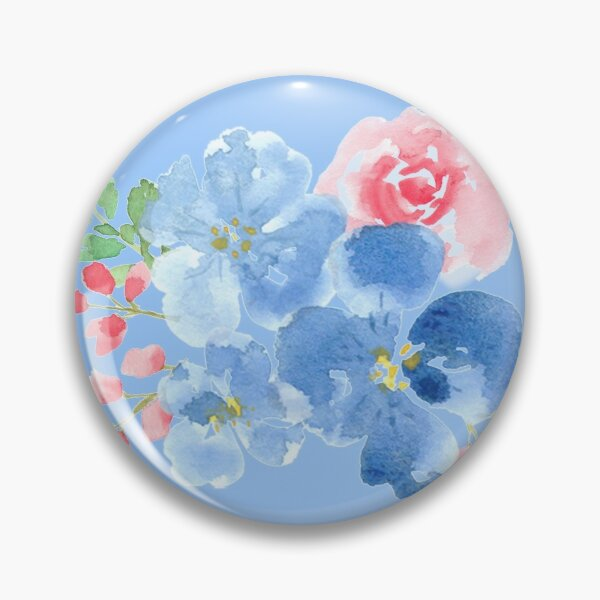 Cute watercolor bouquet Pin