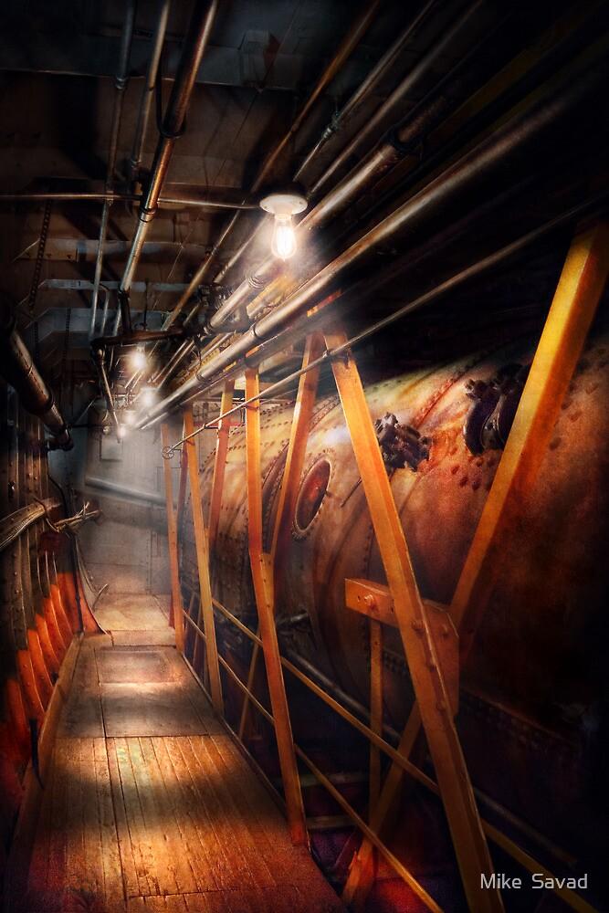 Steampunk - Plumbing - The hallway by Michael Savad