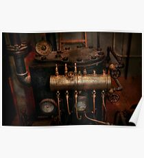 Steampunk - Plumbing - The valve matrix Poster