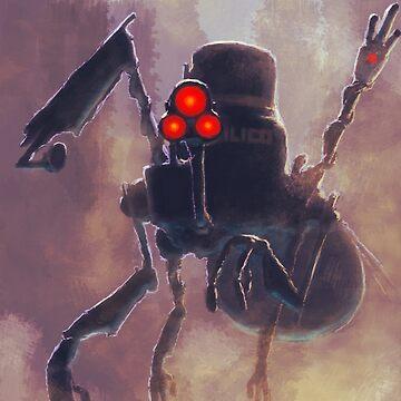 Robot/The Dystopian by ashurcollective