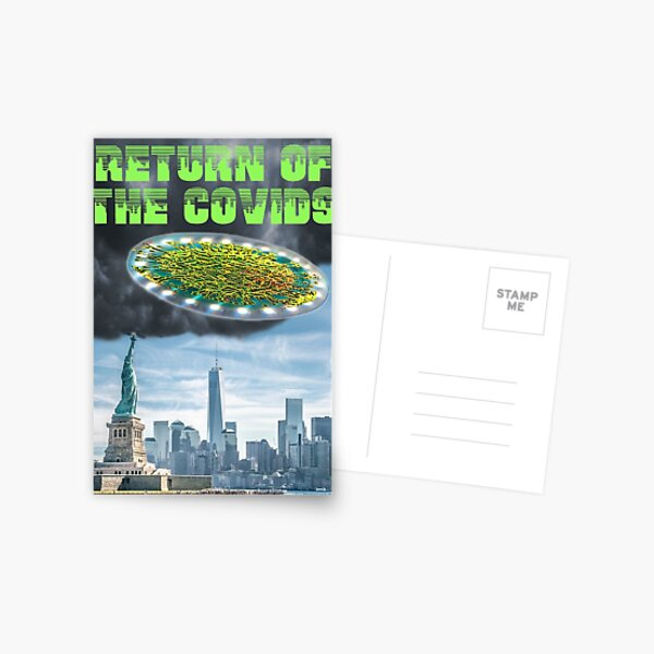 Return of the Covids Postcard
