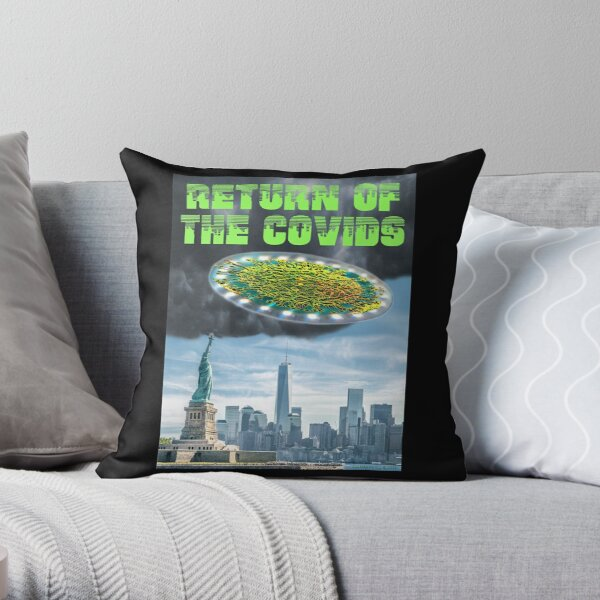Return of the Covids Throw Pillow
