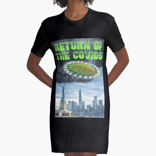 Return of the Covids Graphic T-Shirt Dress