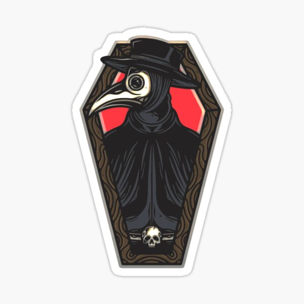 Plague Doctor Coffin Sticker