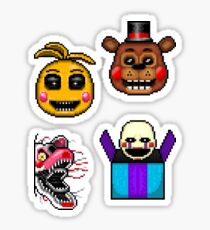 Five Nights at Freddy's 2 - Pixel art - Various Characters Sticker pack 2 Sticker