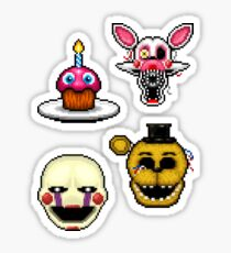 Five Nights at Freddy's 2 - Pixel art - Various Characters Sticker pack 1 Sticker