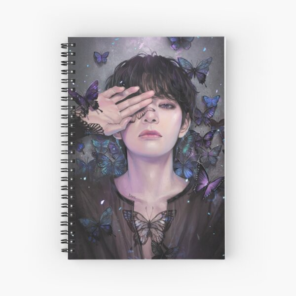 V- Butterfly Spiral Notebook