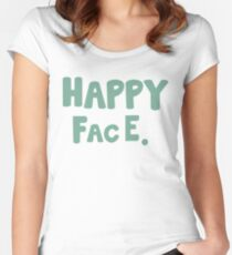 Happy Face. Women's Fitted Scoop T-Shirt