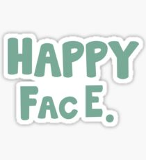 Happy Face. Sticker