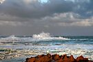 Stormy Seas at the Breakwater by Christine Smith
