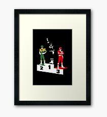 Black Ranger Power Framed Print