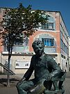 Dylan Thomas statue & theatre, Swansea, Wales by David Carton
