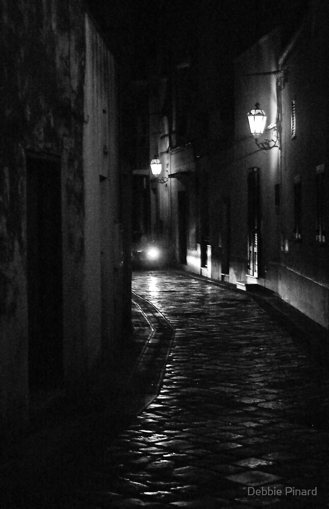 Road at Night - Maglie Italy by Debbie Pinard