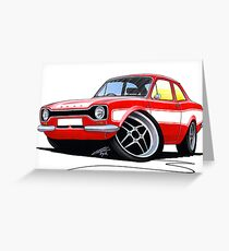 Ford Escort (Mk1) RS2000 Red Greeting Card