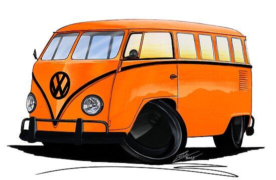 VW Splitty (15 Window) Camper (B) by yeomanscarart