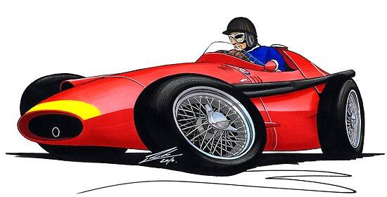F1 1957 - Maserati 250F - Fangio by Richard Yeomans