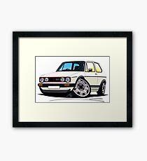 VW Golf (Mk1) GTi White Framed Print
