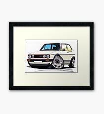 VW Golf (Mk1) GTi White Framed Print