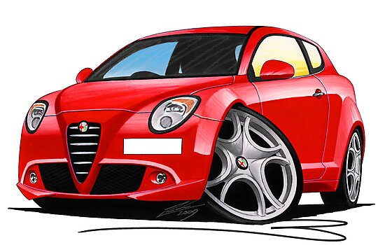Alfa Romeo MiTo Red by Richard Yeomans