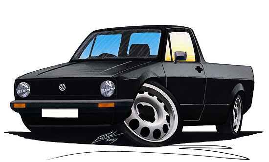 VW Caddy Black by yeomanscarart