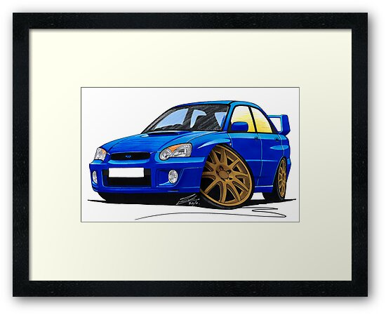 Subaru Impreza (2003-06) Blue by yeomanscarart