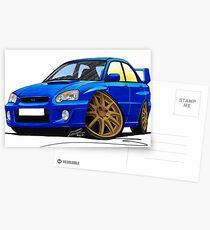 Subaru Impreza (2003-06) Blue Postcards