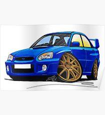 Subaru Impreza (2003-06) Blue Poster