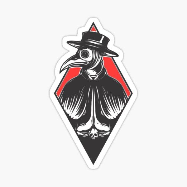 Plague Doctor Red Diamond Sticker