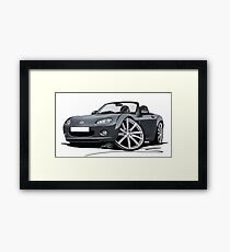 Mazda MX5 (Mk3) Grey Framed Print