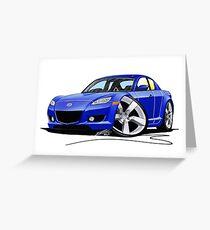 Mazda RX8 Blue Greeting Card