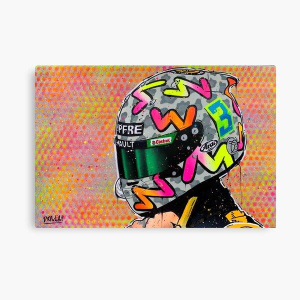 Daniel Ricciardo 2020 - Renault F1 graffiti painting by DRAutoArt Canvas Print