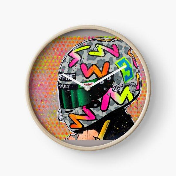 Daniel Ricciardo 2020 - Renault F1 graffiti painting by DRAutoArt Clock