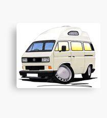 VW T25 / T3 [SQ] (High Top) White Canvas Print