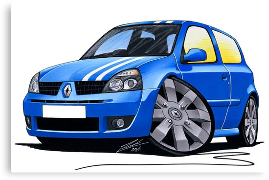RenaultSport Clio 182 Blue by yeomanscarart