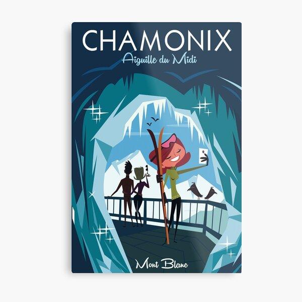 Chamonix, Aiguille du Midi poster Metal Print