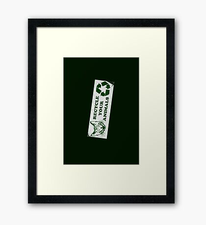 Recycle your Animals - Fight Club Framed Print